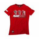Dámské triko MARC MARQUEZ červené  MMWTS61407
