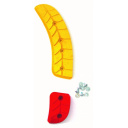 Slidery FORMA DOMINATOR COMP SM FORC110-1111 červeno žluté
