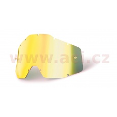 plexi Racecraft/Accuri/Strata, 100% (zlaté chrom, Anti-fog)