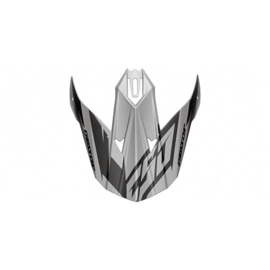 kšilt pro přilby Cross Cup Two, CASSIDA (šedý matný/černý)