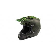 přilba F2 Carbon GRANITE, FLY RACING (tmavě zelená/černá, se systémem ochrany MIPS)