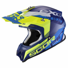 Moto přilba SCORPION VX-16 AIR ARHUS matná modro/neonově žlutá
