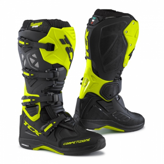 Moto boty TCX COMP EVO MICHELIN® černo/žluté fluo