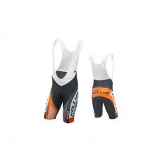 KELLYS Cyklokalhoty PRO Race krátké s vložkou orange - M (016)