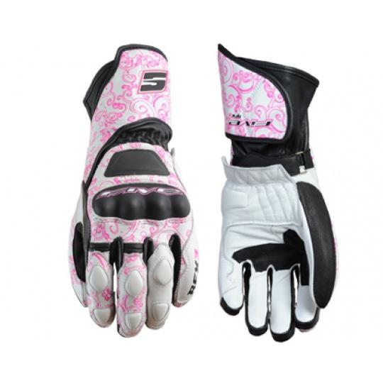 Dámské moto rukavice FIVE RFX3 WOMAN REPLICA tribal růžové