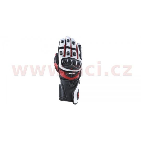 rukavice RP-2R, OXFORD (bílé/černé/červené)