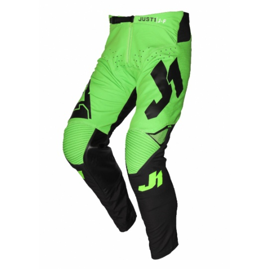 Moto kalhoty JUST1 J-FLEX ARIA neonově zeleno/černé