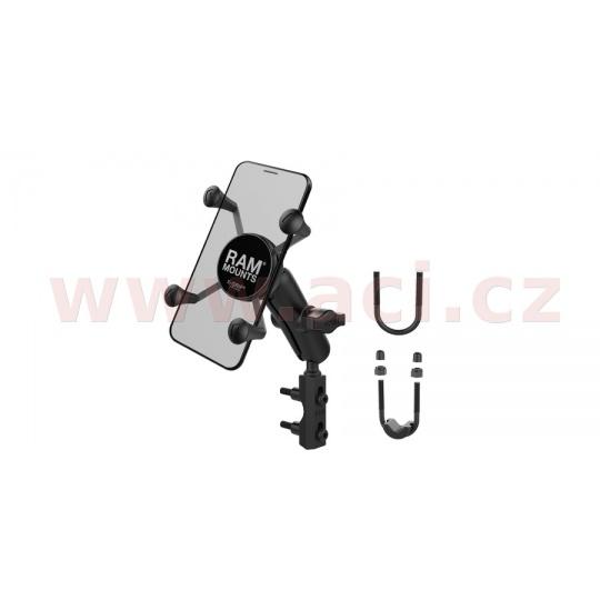 kompletní sestava držáku X-Grips uchycením na objímku brzdové/spojkové páčky/řidítka motocyklu, RAM Mounts