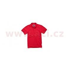 triko s límečkem VORTEX POLO krátký rukáv, ALPINESTARS (červené)