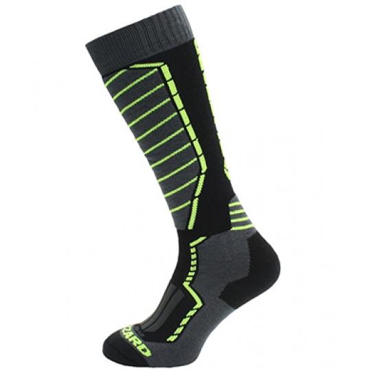 lyžařské ponožky BLIZZARD Profi ski socks, black/anthracite/signal yellow