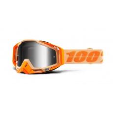 brýle RACECRAFT SAHARA, 100% (stříbrné zrcadlové plexi)