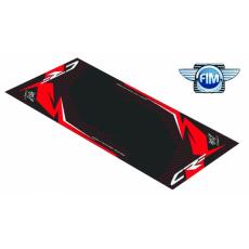 Koberec pod moto 100x160cm Hurly HONDA CRF 4T černo/červený