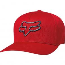Pánská kšiltovka Fox Lithotype Flexfit Hat Bright Red