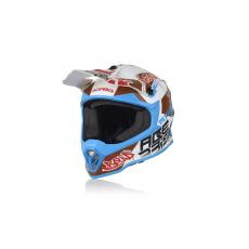 motokros přilba Acerbis Junior Steelbílá/modrá