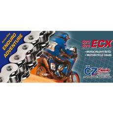 řetěz 520ECX, ČZ - ČR (barva černá, 102 článků vč. rozpojovací spojky CLIP)