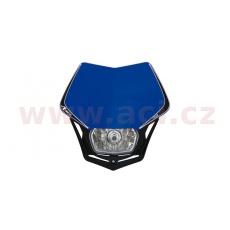 UNI přední maska včetně světla V-Face, RTECH (modro-černá)