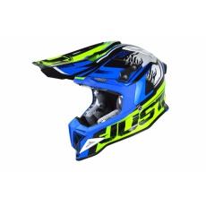 Moto přilba JUST1 J12 DOMINATOR žlutá neon/modrá