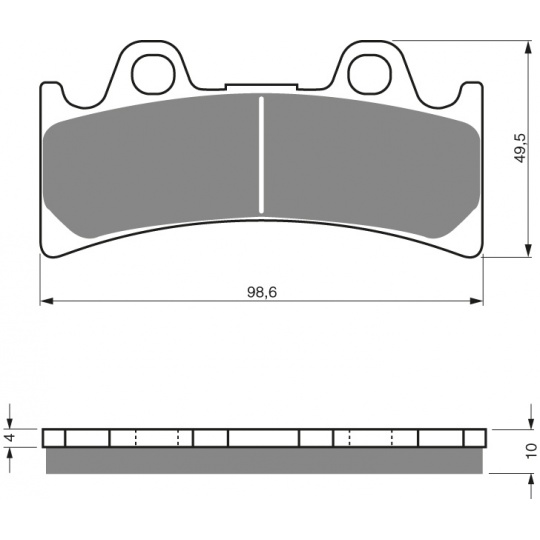 brzdové desky GOLDFREN 054 S3
