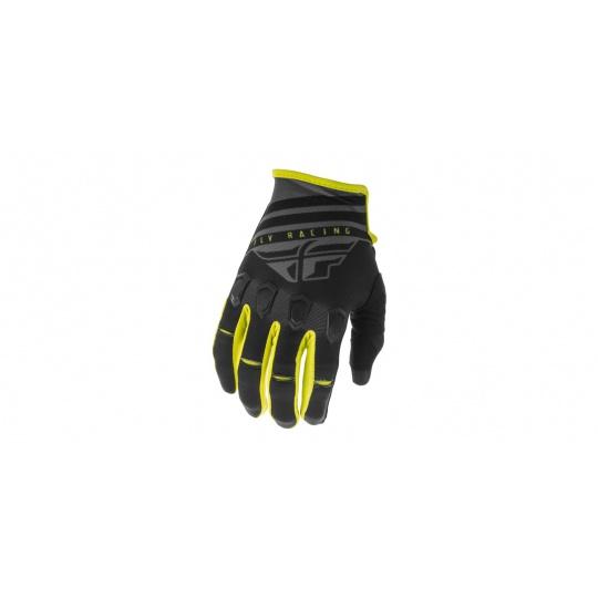 rukavice KINETIC K220 2020, FLY RACING (černá/šedá/hi-vis)