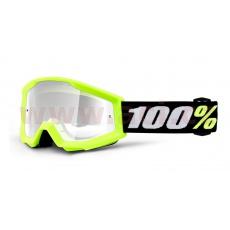 brýle Strata MINI, 100% dětské (žlutá, čiré plexi)