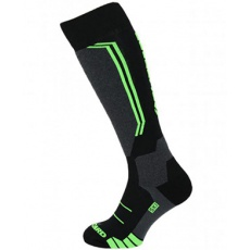 lyžařské ponožky BLIZZARD Allround wool ski socks, black/anthracite/green