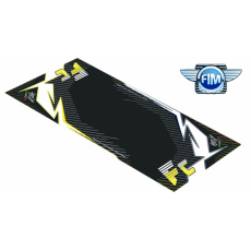 Koberec pod moto 100x160cm Hurly HUSQVARNA FC 4T černo/žlutý