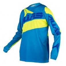 Motokrosový dres ALIAS MX A2 cyan/neonově žlutý 2160-347