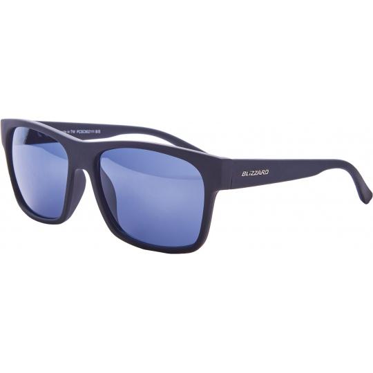 sluneční brýle BLIZZARD sun glasses PCSC802111, rubber black, 64-17-143