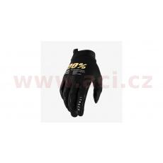 rukavice iTRACK, 100% - USA (černá/zlatá)