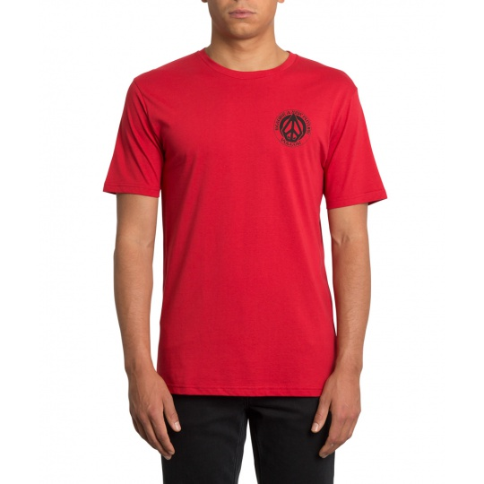 Pánské triko Volcom Conceiver Bsc Ss Engine Red