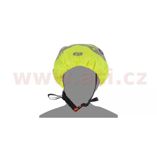 reflexní obal/pláštěnka na přilby BRIGHT CAP, OXFORD (žlutá fluo/reflexní prvky)