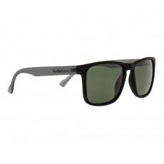 sluneční brýle RED BULL SPECT Sun glasses, LEAP-004P, matt black rubber, green POL, CAT3, 55-17-145