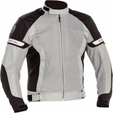 Moto bunda RICHA COOL SUMMER černo/šedá prodloužená