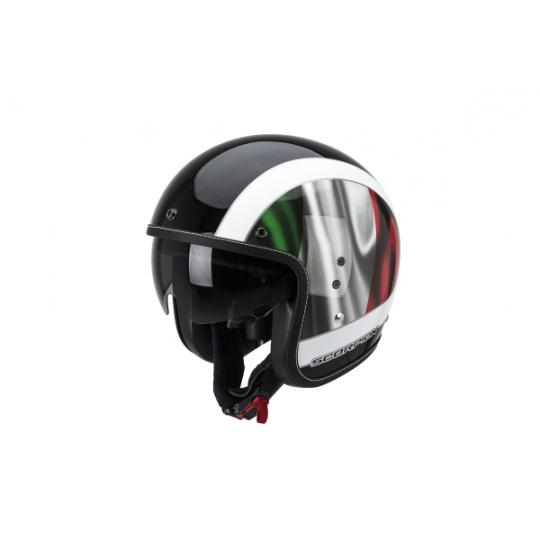 Moto přilba SCORPION BELFAST ROMA černo/zeleno/červená
