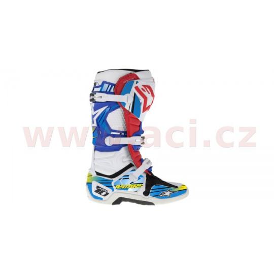 sada polepů pro boty TECH 10 model 2014 až 2018, ALPINESTARS (modrá/světle modrá/žlutá)