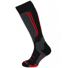 lyžařské ponožky BLIZZARD Allround wool ski socks, black/anthracite/red