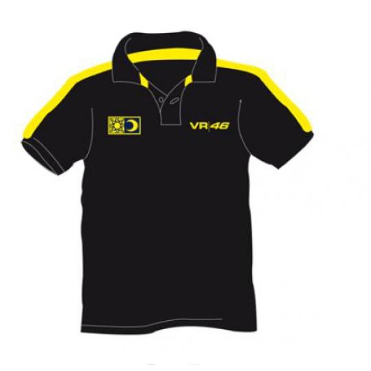Polokošile Valentino Rossi VR46 černá 1005 04