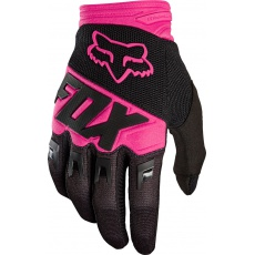 Fox Dirtpaw Race Glove - pánské MX rukavice Black/Pink