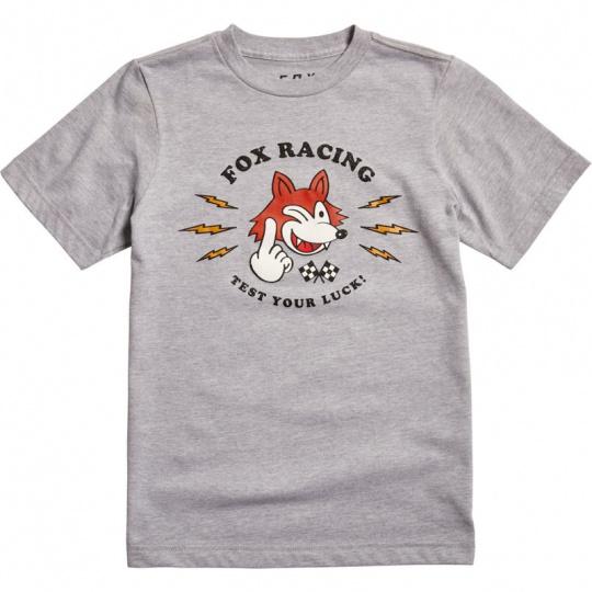 Dětské triko Fox Youth Test Your Luck Ss Tee Grey