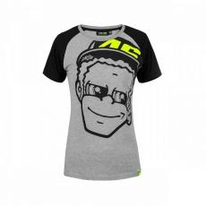 Dámské triko Valentino Rossi VR46 DOCTOR šedé 307605