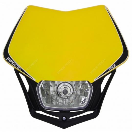 Maska na moto RTECH V-FACE žlutá