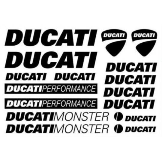Samolepky řezané DUCATI - formát A4