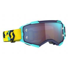 brýle FURY, SCOTT - USA (modrá/oranžová/ modré chrom plexi)