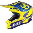 Moto přilba JUST1 J32 PRO RAVE modro/žlutá