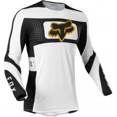 Pánský MX dres Fox Flexair Mirer Jersey White/Black