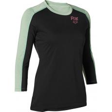 Dámský dres Fox W Ranger Dr 3/4 Jersey Black/Green