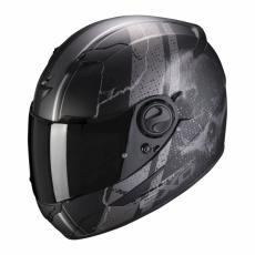 Moto přilba SCORPION EXO-490 DAR matná černo/stříbrná