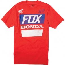 Pánské tričko Fox Honda Distressed Basic Tee Red