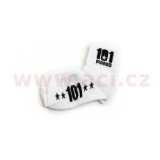 ponožky 101 FOOTWEAR, 101 RIDERS (bílé/černé)
