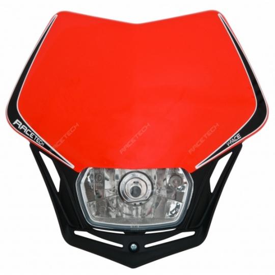 Maska na moto RTECH V-FACE červená